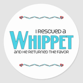 I Rescued a Whippet (Male Dog) Stickers