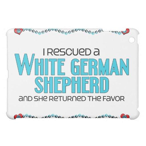 I Rescued a White German Shepherd (Female Dog) iPad Mini Cover