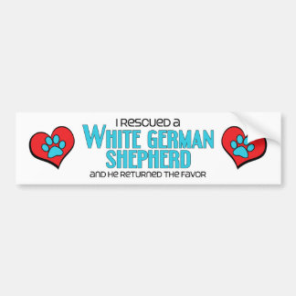 I Rescued a White German Shepherd (Male Dog) Bumper Sticker