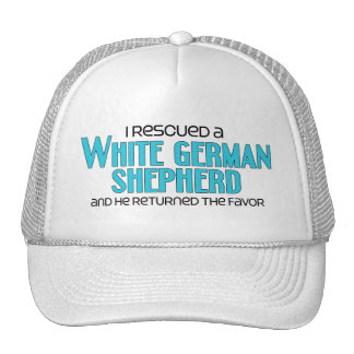 I Rescued a White German Shepherd (Male Dog) Hat
