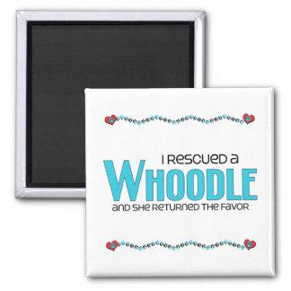 I Rescued a Whoodle (Female) Dog Adoption Design 2 Inch Square Magnet