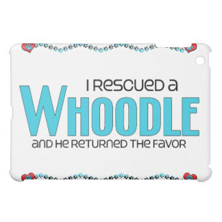 I Rescued a Whoodle (Male) Dog Adoption Design Cover For The iPad Mini