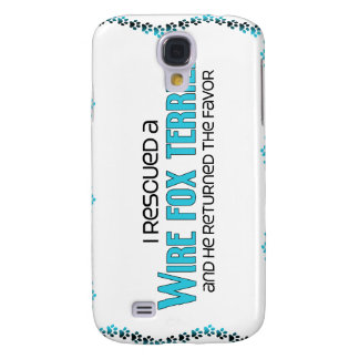 I Rescued a Wire Fox Terrier (Male Dog) Samsung Galaxy S4 Case