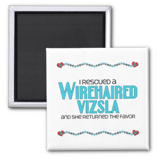 I Rescued a Wirehaired Vizsla (Female Dog) 2 Inch Square Magnet
