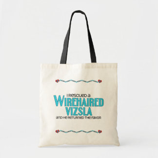 I Rescued a Wirehaired Vizsla (Male Dog) Tote Bags