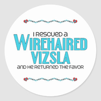 I Rescued a Wirehaired Vizsla (Male Dog) Classic Round Sticker