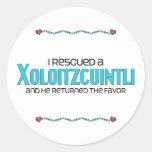 I Rescued a Xoloitzcuintli (Male Dog) Classic Round Sticker