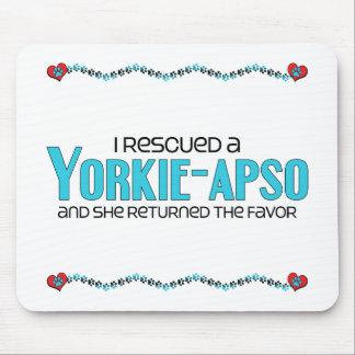 I Rescued a Yorkie-Apso (Female) Dog Adoption Mouse Pad