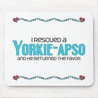 I Rescued a Yorkie-Apso (Male) Dog Adoption Design Mouse Pad