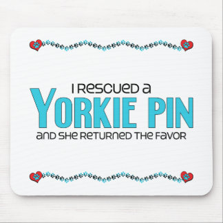 I Rescued a Yorkie Pin (Female) Dog Adoption Mouse Pad