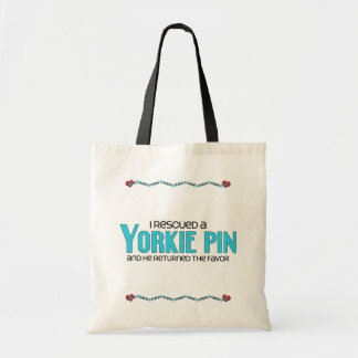I Rescued a Yorkie Pin (Male) Dog Adoption Design Tote Bag
