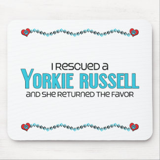 I Rescued a Yorkie Russell (Female) Dog Adoption Mouse Pad
