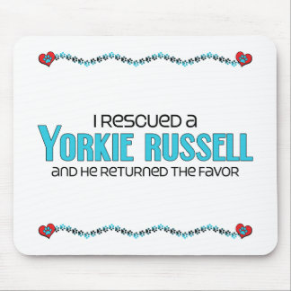 I Rescued a Yorkie Russell (Male) Dog Adoption Mouse Pad