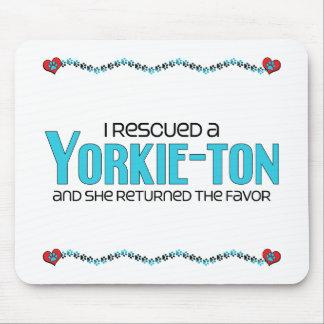 I Rescued a Yorkie-ton (Female) Dog Adoption Mouse Pad