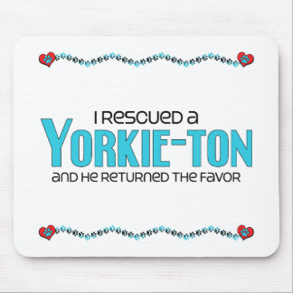 I Rescued a Yorkie-ton (Male) Dog Adoption Design Mouse Pad