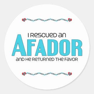 I Rescued an Afador (Male) Dog Adoption Design Stickers