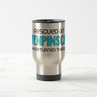I Rescued an Affenpinscher (Male Dog) 15 Oz Stainless Steel Travel Mug