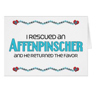 I Rescued an Affenpinscher (Male Dog) Greeting Card