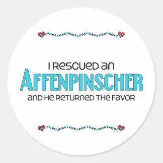 I Rescued an Affenpinscher (Male Dog) Sticker