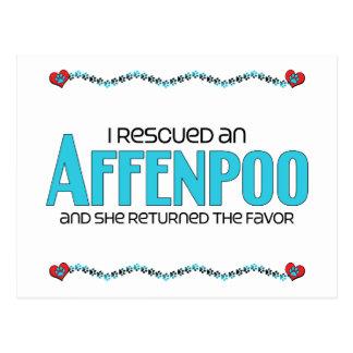 I Rescued an Affenpoo (Female) Dog Adoption Design Postcard