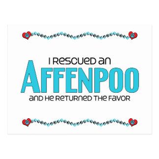 I Rescued an Affenpoo (Male) Dog Adoption Design Postcard