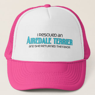 I Rescued an Airedale Terrier (Female Dog) Trucker Hat