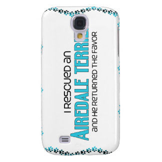 I Rescued an Airedale Terrier (Male Dog) Samsung Galaxy S4 Cases