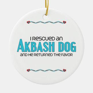 I Rescued an Akbash Dog (Male Dog) Ceramic Ornament