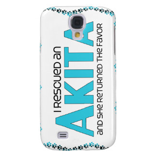 I Rescued an Akita (Female Dog) Galaxy S4 Cases