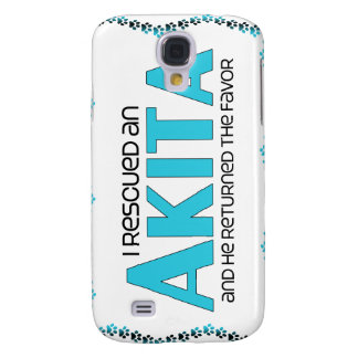 I Rescued an Akita (Male Dog) Samsung Galaxy S4 Cover
