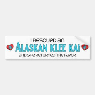 I Rescued an Alaskan Klee Kai (Female Dog) Bumper Sticker