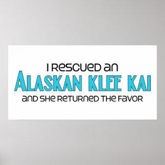 I Rescued an Alaskan Klee Kai (Female Dog) Poster