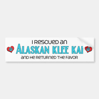 I Rescued an Alaskan Klee Kai (Male Dog) Bumper Sticker