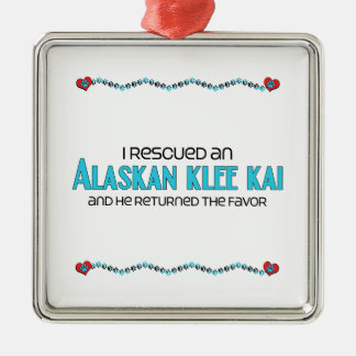 I Rescued an Alaskan Klee Kai (Male Dog) Christmas Tree Ornaments