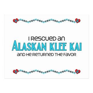 I Rescued an Alaskan Klee Kai (Male Dog) Postcard