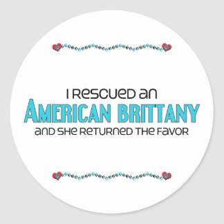 I Rescued an American Brittany (Female Dog) Sticker