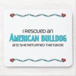 I Rescued an American Bulldog (Female Dog) Mousepads
