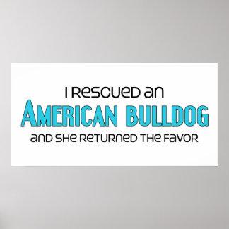 I Rescued an American Bulldog (Female Dog) Posters