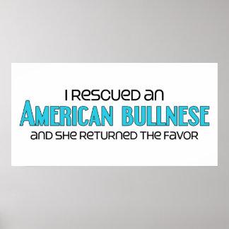 I Rescued an American Bullnese (Female Dog) Poster