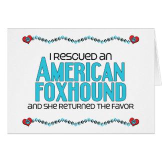 I Rescued an American Foxhound (Female Dog) Card