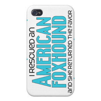 I Rescued an American Foxhound (Female Dog) iPhone 4 Cover