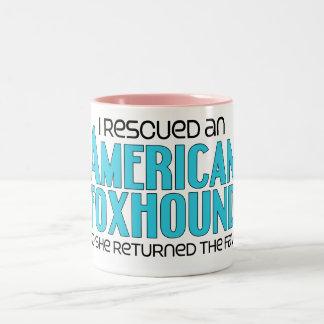 I Rescued an American Foxhound (Female Dog) Two-Tone Coffee Mug