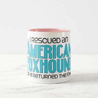 I Rescued an American Foxhound (Male Dog) Two-Tone Coffee Mug