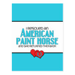 I Rescued an American Paint Horse (Female Horse) Postcard