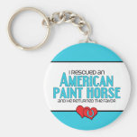 I Rescued an American Paint Horse (Male Horse) Key Chains