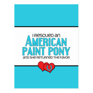 I Rescued an American Paint Pony (Female Pony) Postcard