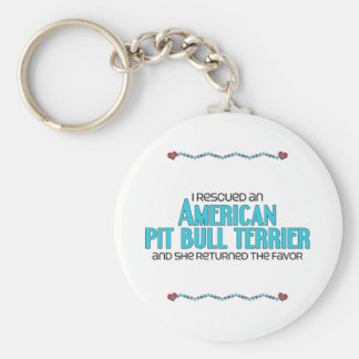 I Rescued an American Pit Bull Terrier (Female) Keychains
