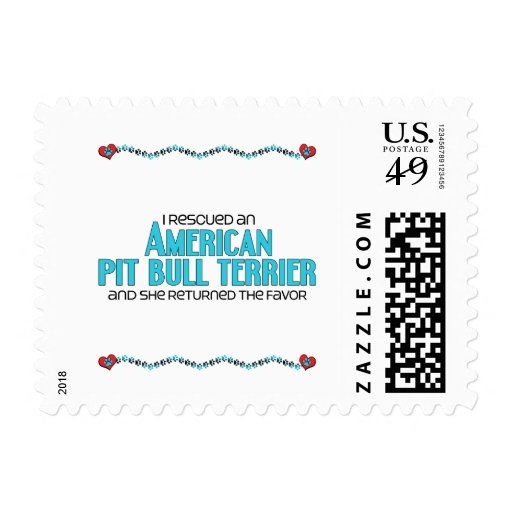 I Rescued an American Pit Bull Terrier (Female) Postage Stamps