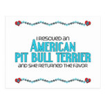 I Rescued an American Pit Bull Terrier (Female) Postcard