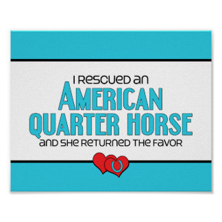 I Rescued an American Quarter Horse (Female Horse) Poster